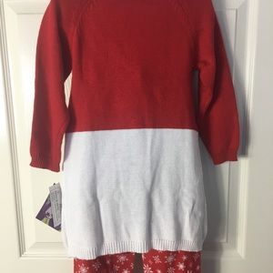 Blueberi Boulevard Matching Sets - BLUEBERI BOULEVARD Reindeer Tunic & Pants Set Sz5